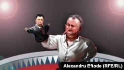 Политическая карикатура, лидер социалистов Молдовы Игорь Додон