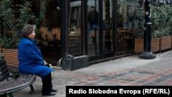 macedonia-view of skopje, old people