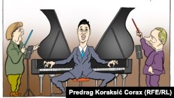 Dirigenti, karikatura Predraga Koraksića Coraxa