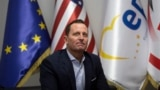 KOSOVO -- U.S. ambassador to Germany Richard Grenell attends a meeting with the leader of LDK in the capital Pristina, January 23, 2020