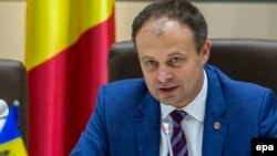 Moldovan parliament speaker Andrian Candu (file photo)