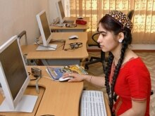Turkmenistan -- Internet cafe in Ashgabat, 14Mar2007