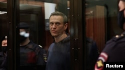 Мухолифатчи Алексей Навальний суд залида, Москва, 2021 йил 2 феврали