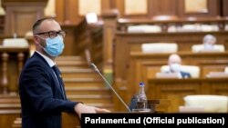 Ministrul Justiției, Sergiu Litvinenco, prezintă în Parlament modificările la legile procuraturii, 13 august 2021