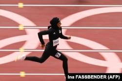 Афганская бегунья на Олимпиаде в Токио, 30 июля 2021 года
