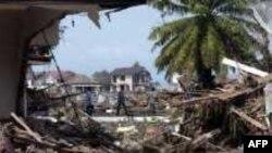 Разрушения, оставленные цунами