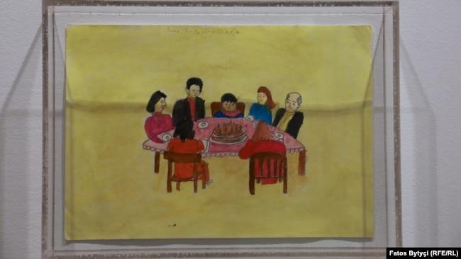 Një vizatim i një fëmije të vrarë gjatë luftës.