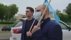 В Киеве устроили автопробег в годовщину депортации крымских татар (видео)