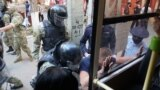 CRIMEA - mass arrests at the headquarters of the FSB of Russia, Simferopol, 4Sep2021
