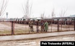 Военные в селе Сортобе, Жамбылская область. 27 февраля 2020 года.