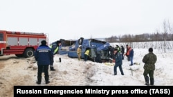 Россия -- На месте ДТП в Калужской области, 3 февраля 2019 г.