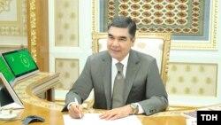 Turkman President Gurbanguly Berdymukhammedov (file photo)