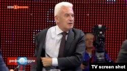 """Волен Сидеров по време на участието си в """"Референдум"""" през октомври"""