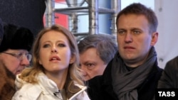 Kseniya Sobchak and Aleksei Navalny (file photo)