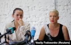 Сьвятлана ЦІханоўская і Марыя Калесьнікава