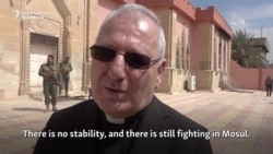 Iraq's Catholic Patriarch Visits Damaged Churches In Mosul