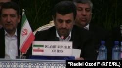 احمدی نژاد در پنجمین کنفرانس اقتصادی افغانستان در تاجیکستان