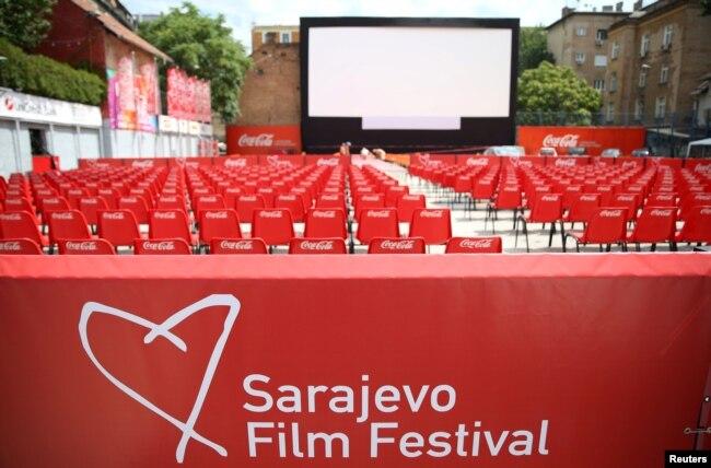 Sarajevo Film Festival ove godine održava se ponovo uživo, nakon prošlogodišnjeg online formata zbog pandemije korona virusa (na fotografiji Open Air Cinema)