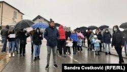 Protesti u Pasjanu, opština Parteš sa srpskom većinom kod Gnjilana.