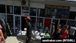 """Рынок """"Бай базар"""" (Богатый базар) в Дашогузе, июнь 2018 года."""