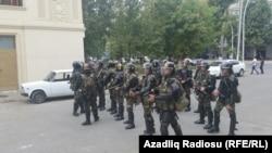 Припадници на азербејџанските безбедносни сили.