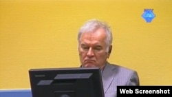 Ratko Mladić u sudnici 1. oktobra 2012. godine