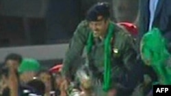 Хамис - сын ливийского лидера Муаммара Каддафи. Триполи, 29 марта 2011 года.