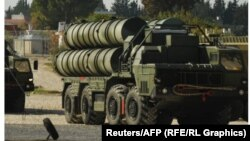 Baterie din sistemul de rachete rusesc S-400
