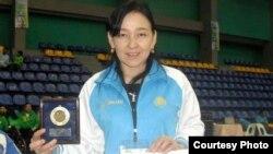 Паралимпиада ойындарына қатысқан спортшы Кәбира Асқарова.