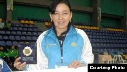 Паралимпиада ойындарына қатысатын қазақстандық спортшы Кабира Асқарова. Сурет спорт және дене шынықтыру агенттігінің баспасөз қызметінен алынды.
