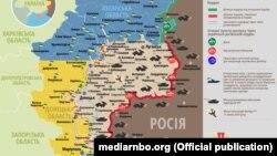 Ситуація в зоні бойових дій на Донбасі, 13 жовтня 2018 року (дані Міністерства оборони України)