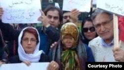 Демонстрация в Тегеране против нападений на женщин, 22 октября 2014