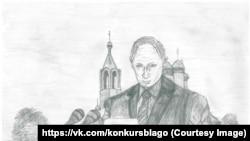 Пока в конкурсе лидирует рисунок 15-летнего Никиты Исупова