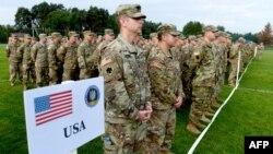 Церемония открытия военных учения НАТО «Рапид Трайдент». Львовская область, Яворивский полигон, 11 сентября 2017 года