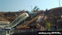 2011 жылы өткен Азиада үшін салынған трамплин кешені. Алматы, 23 қыркүйек 2012 жыл.
