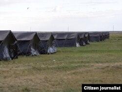 O'zbek migrantlari uchun chegarada palatkali lager tashkil etildi.