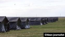 Палаточный лагерь на российско-казахской границе, 20 мая 2020 года.