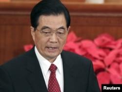 Ху Цзиньтао Қытай компартиясының 90 жылдық мерекесінде сөйлеп тұр. Бейжің, 1 шілде 2011 жыл.