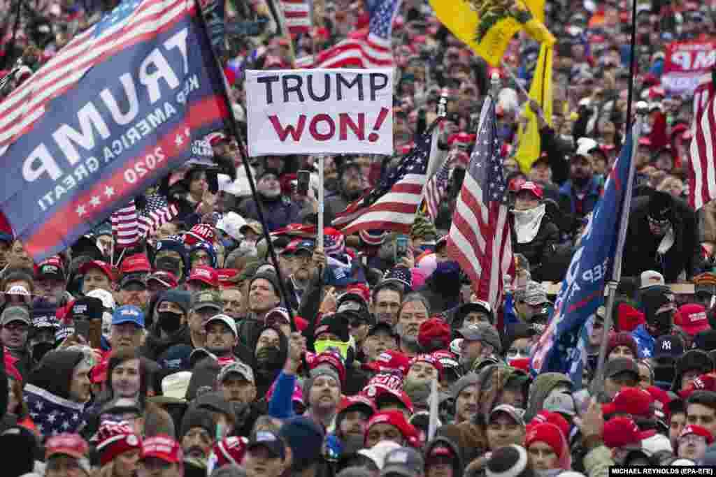 Тысячи пришли на Национальную аллею в Вашингтоне и окружили Белый дом