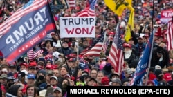 Демонстрация в поддержку Дональда Трампа в Вашингтоне