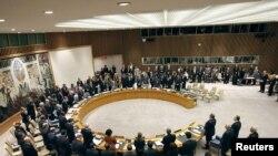 Заседание Совета безопасности ООН в штаб-квартире организации в Нью-Йорке