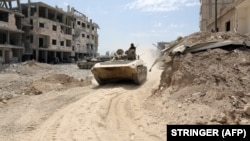 ارتش سوریه در شرق شهر دوما