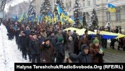 У День Соборності львів'яни молились і провели віче, а ще частували східняків пампухами