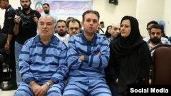 از سمت راست: نجوا لاشیدایی و وحید بهزادی، زوجی که به اتهام «اخلال در نظام ارز و اقتصادی خودرو» در ایران به اعدام محکوم شدهاند