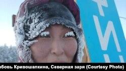 Одна из участниц первого международного экстремального марафона в Якутии