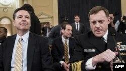 Директор ФБР Джеймс Коми и Директор Агентства национальной безопасности Майк Роджерс на слушаниях