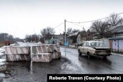 Донбас. Блокпост на в'їзді до українського селища