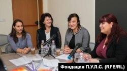 Аксиния Йорданова, Марияна Евтимова, Екатерина Велева и Юлия Андонова от фондация П.У.Л.С.