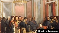 Отречение Наполеона в Фонтенбло, 1814. Картина Фредерика Бушо