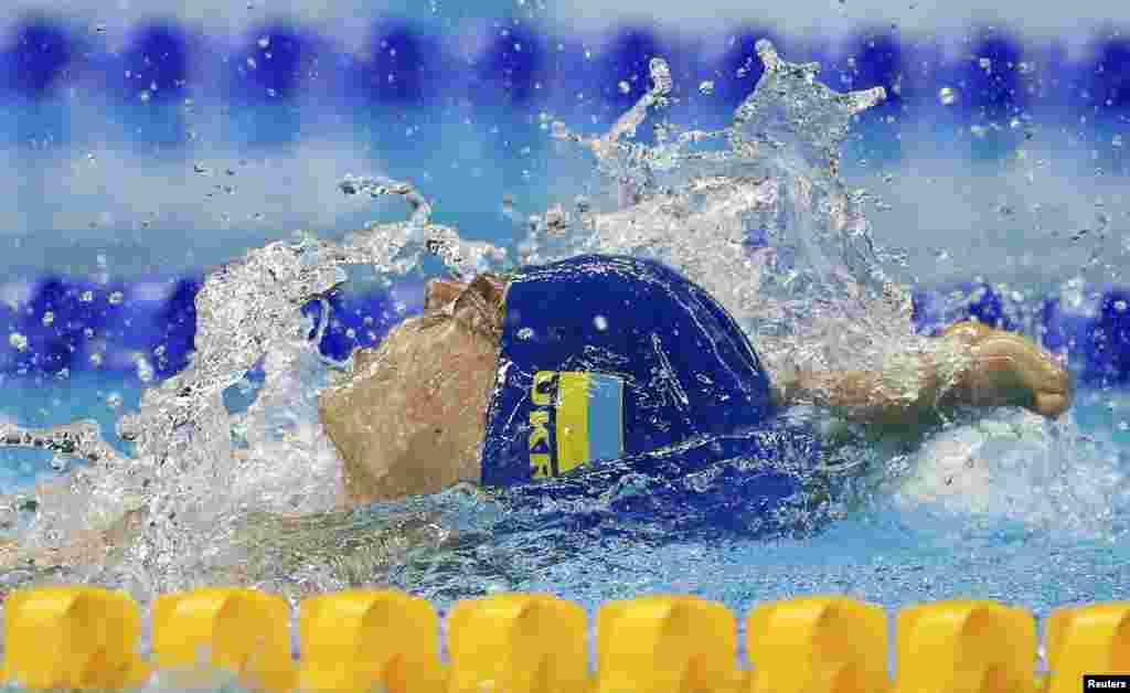 Євгеній Богодайко, золотий призер у плаванні на дистанцію 100 метрів на спині. Ріо-Де-Жанейро, 8 вересня 2016 року